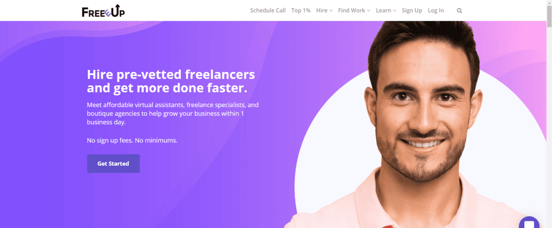 freeeup.com website