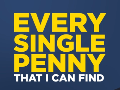 quote card about every single penny