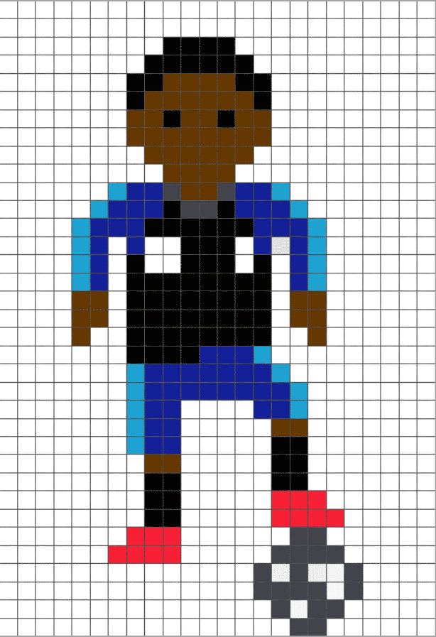 Pixel Art De Foot