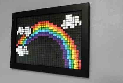 Arc en ciel pixel art photo 2