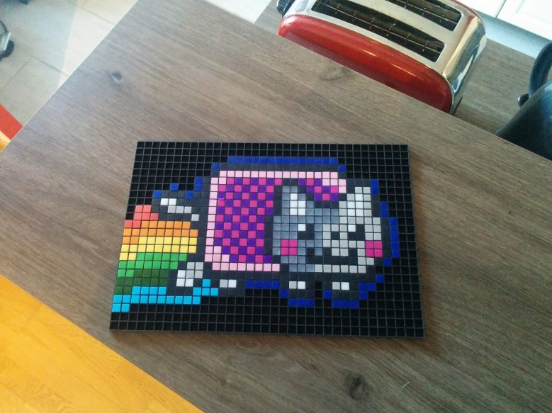 Nyan cat pixel art photo 2