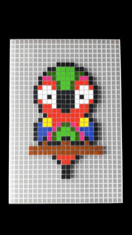 Perroquet pixel art photo 3