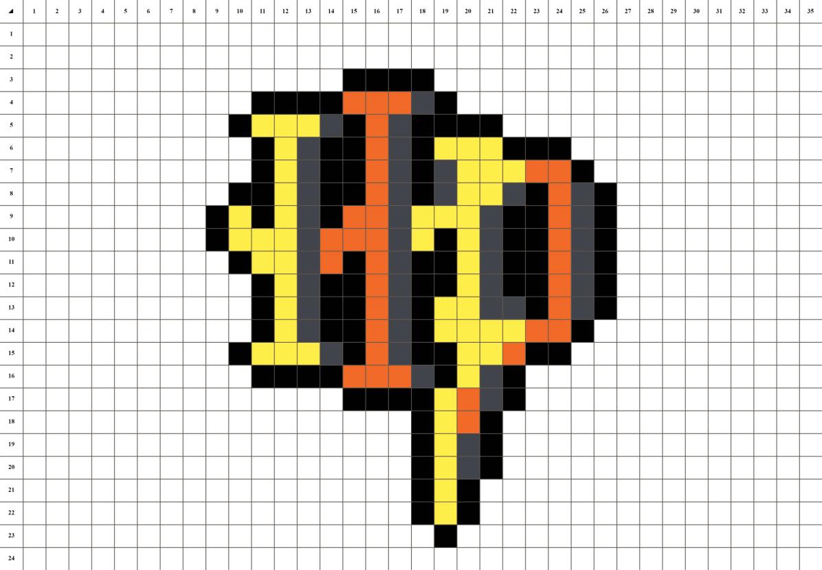 Harry Potter logo pixel art loisir creatif grille fond blanc