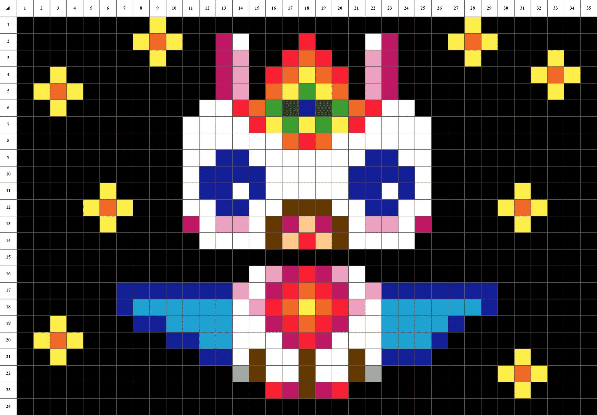 Licorne Ailée Kawaii Pixel Art Mosaïque La Manufacture