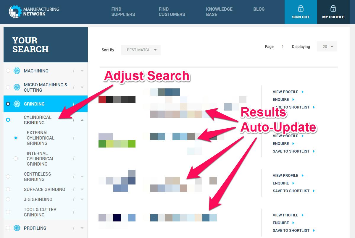 Supplier Search Engine