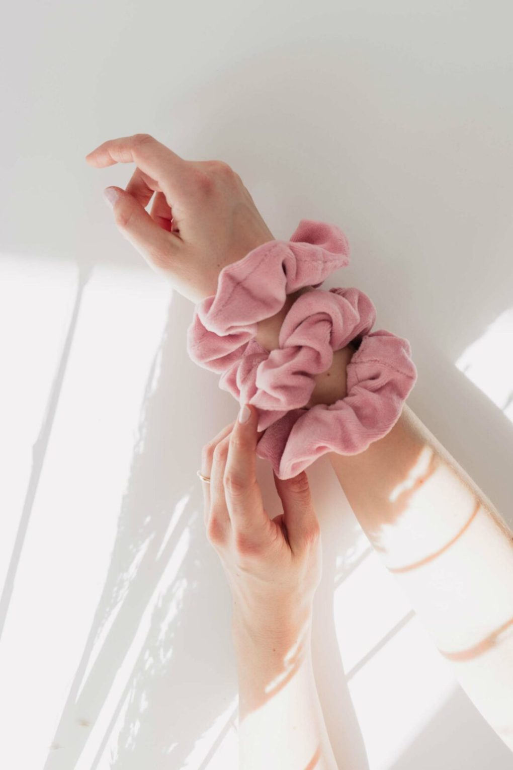 fairfashion Scrunchies Haargummis in Rosa