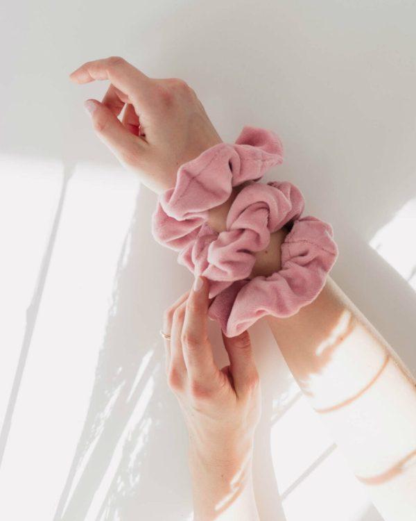 fairfashion Scrunchies Haargummis in Rosa