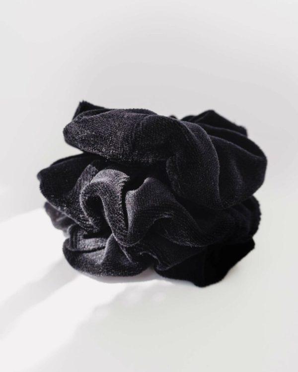 Schwarzes Scrunchie aus Biobaumwolle