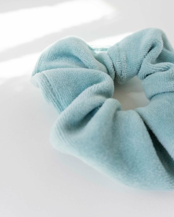fairfashion Scrunchies Haargummis in Mint Blau