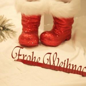 Frohe Weihnachten stehend rot