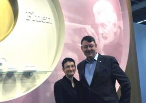 Manufakturen-Blog: Stephanie Saalfeld und ich, hinten Häberli (Foto: Fürstenberg)