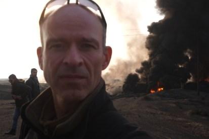 Manufakturen-Blog: Selfie von Martin Specht in Mossul (Irak) während der Offensive im Dezember 2016 (Foto: Martin Specht)
