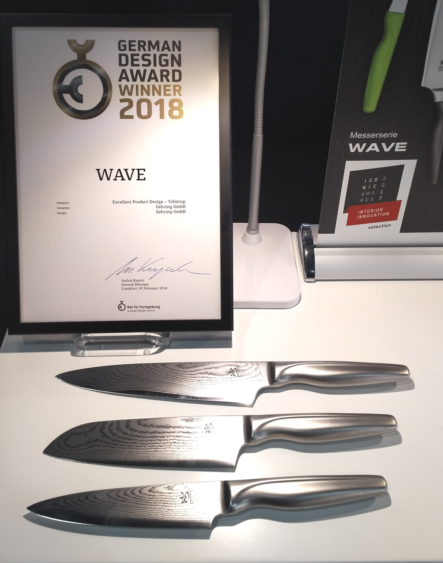 "Manufakturen-Blog: Gehrings Messerserie ""Wave"" gewann den German Design Award 2018 (Foto: Wigmar Bressel)"