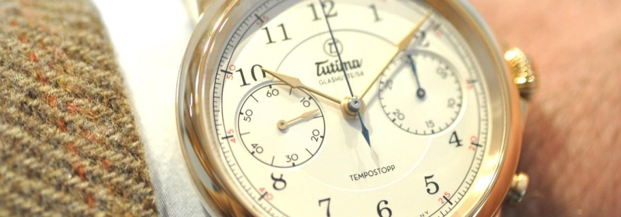 Manufakturen-Blog: Der Verband Deutsche Manufakturen zeichnet die Uhrenmanufaktur Tutima als 'Manufaktur des Jahres 2018' aus - hier im Foto die neue Uhr 'Tempostopp' (Foto: Wigmar Bressel)