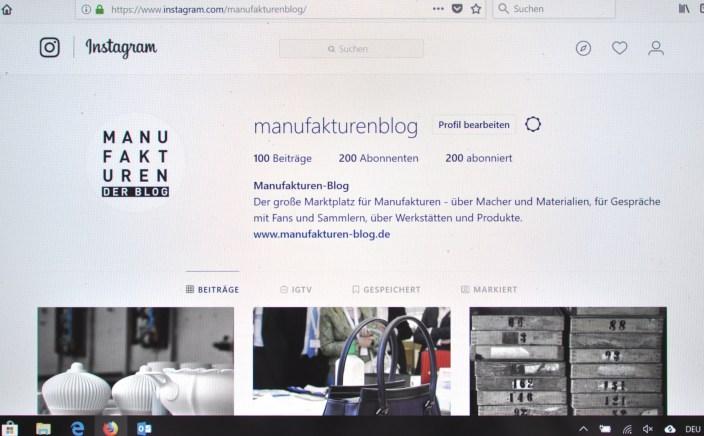 Manufakturen-Blog: Momentaufnahme - die zehn beliebtesten Bilder des Blogs auf Instagram am 21. August 2018 (Foto: Wigmar Bressel)