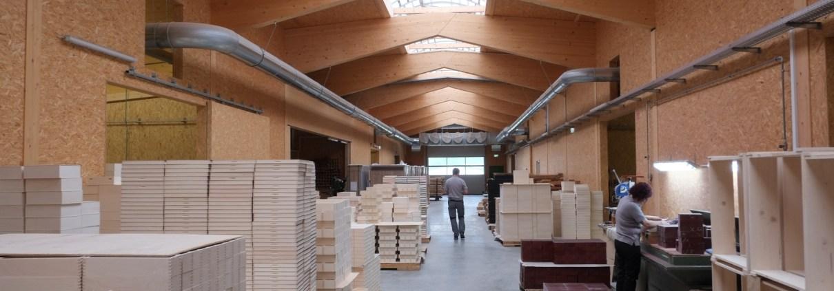 Manufakturen-Blog: Die zentrale Werkstraße durch die Holzmanufaktur Holz.lieb.ich in Zwiesel (Foto: Martin Specht)