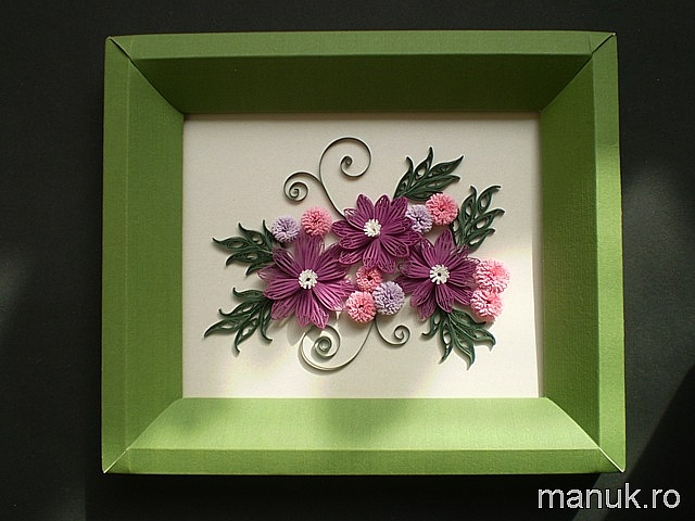 My Present for March 1st – Quilled Simple Flower Arrangement