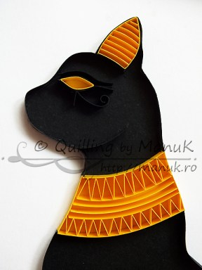 Quilled Egyptian Cat - Detail
