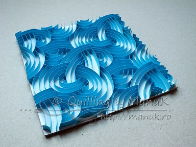 Quilled Blue Swirls - Side View