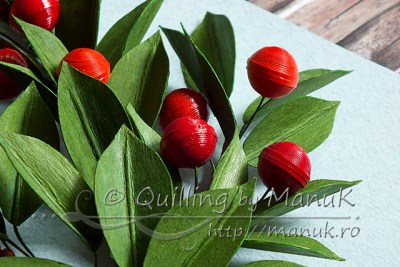 Quilled Cherry Branches - Detail