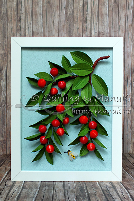 Quilled Cherries Tutorial