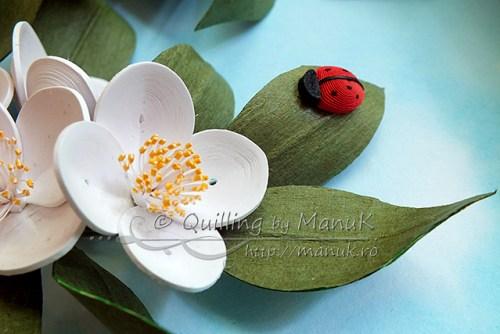 Quilled Jasmines - Detail