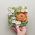 Floral Tile I - Quilled Peony, Mock-orange and Hydrangea