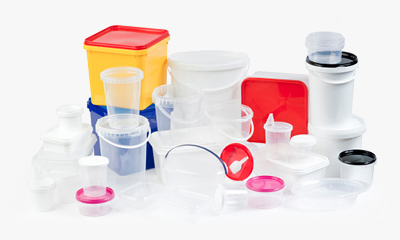 plastic containers including plastic buckets and tubs