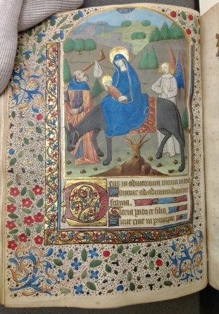 The Flight Into Egypt (Compline, Hours of the Virgin, f. 48v)