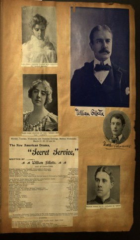 Secret Service program, from Hartford Theater and Concert Scrapbook, 1894-1902