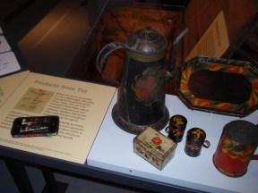 Old tin coffeepot