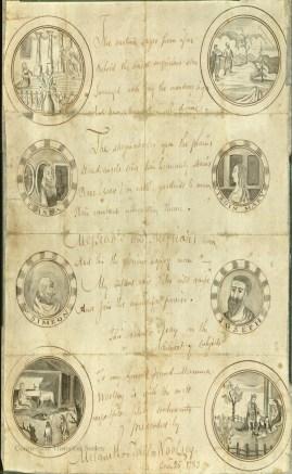 Christmas verses written by Melancthon Woolsey, December 25, 1783.