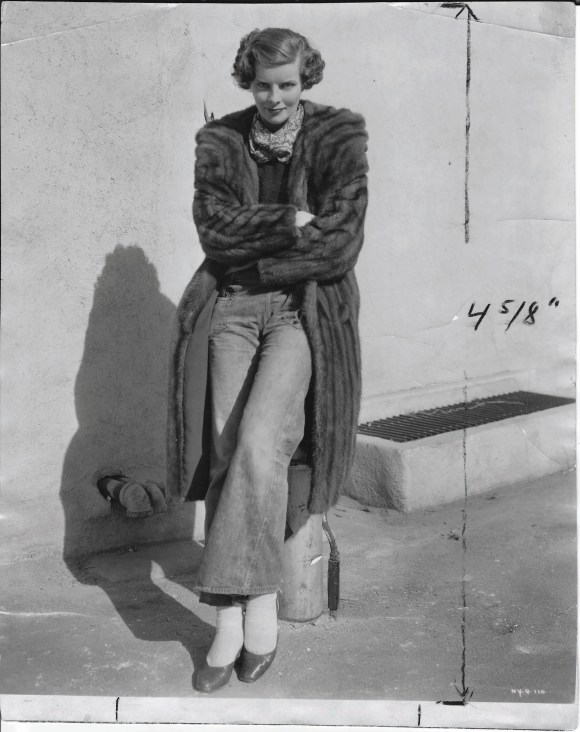 The jeans, the mink, the glare—perfect Hepburn! Photo courtesy of the Judy Samelson collection.