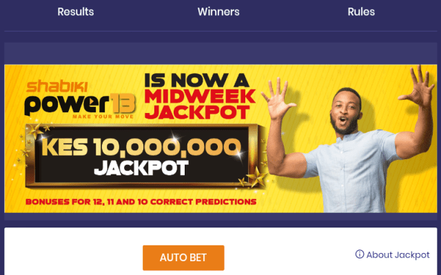 Today Shabiki power 13 jackpot predictions