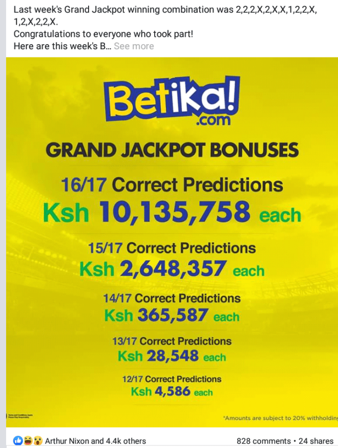 Mabingwa 100M Jackpot predictions