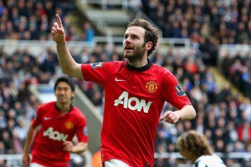 Juan Mata scoring the second against Newcastle