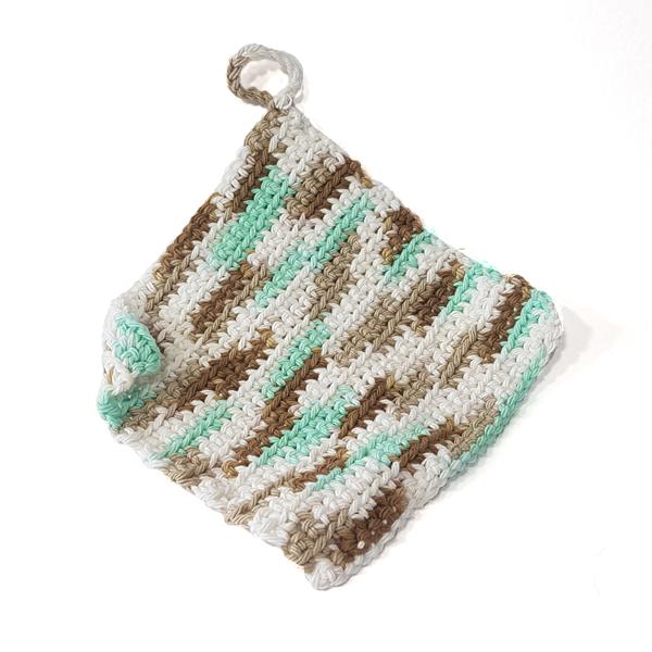 torchon lavette coton tricot