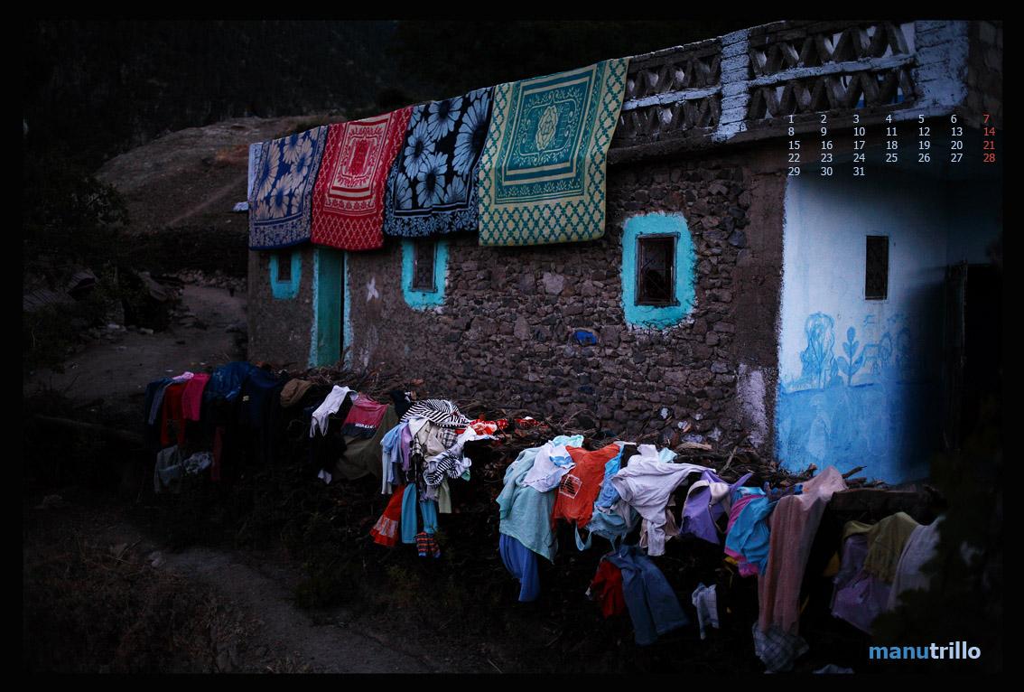Pequeño pueblo del Parque Nacional de Talassemtane, Asilan, en la provincia de Chefachaouen. Todo preparado para el invierno. Fotografía perteneciente al reportaje sobre la Reserva de la Biosfera Andalucía-Marruecos, serie: Territorio Pinsapo.