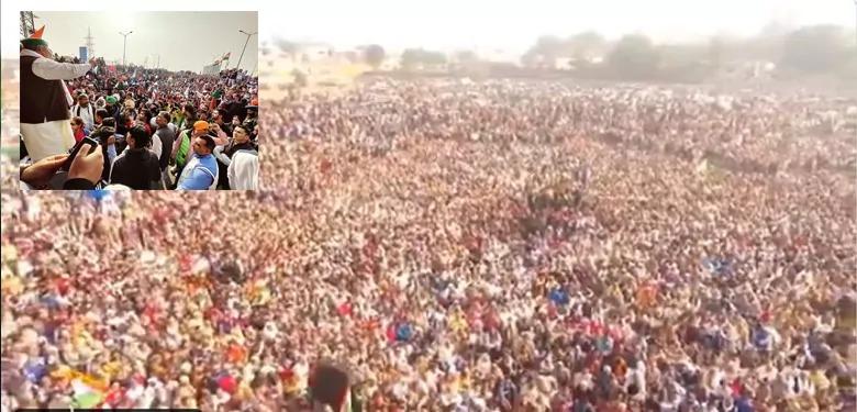 प्रदर्शन स्थल को तोड़ दिये जाने की खबर से आहत थे किसान नेता राकेश टिकैत