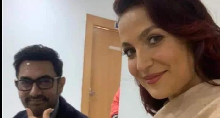 आमिर खान ने एली अवराम संग लगाये ठुमके