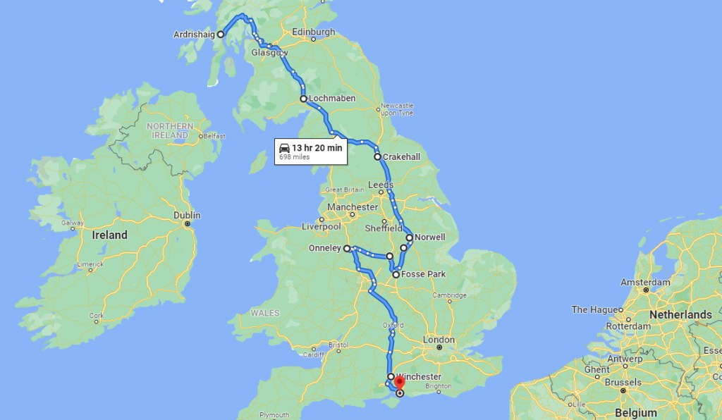 Ardrishaig to Portsmouth