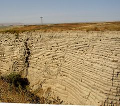 Figure 1. Touchet beds near Lowden in the Walla Walla valley. Note distinct layers.
