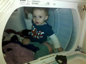 man in dryer
