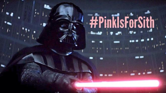 Pink Darth Vader, darth vader pink lightsaber, pink is for sith,