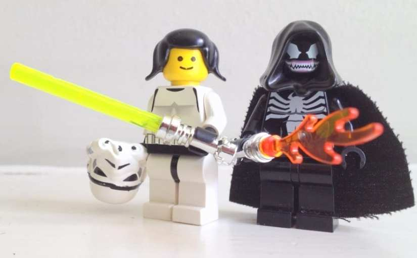 We Didn't Have any Princess Leia LEGO. So My Daughter Came Up With This Instead.
