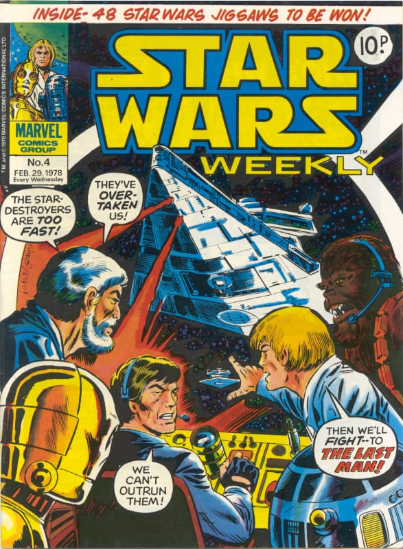 Marvel UK Star Wars Weekly Comic 1978 - issue 4