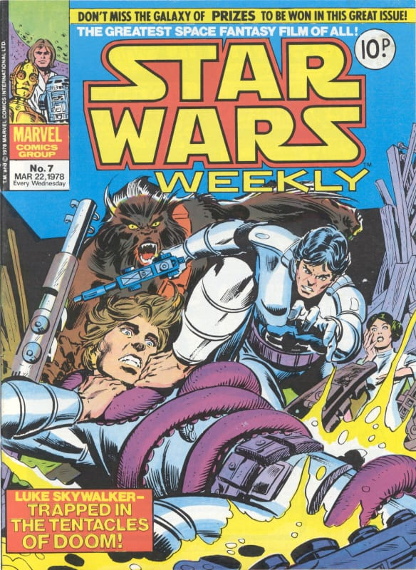 Marvel UK Star Wars Weekly Comic 1978 - issue 7