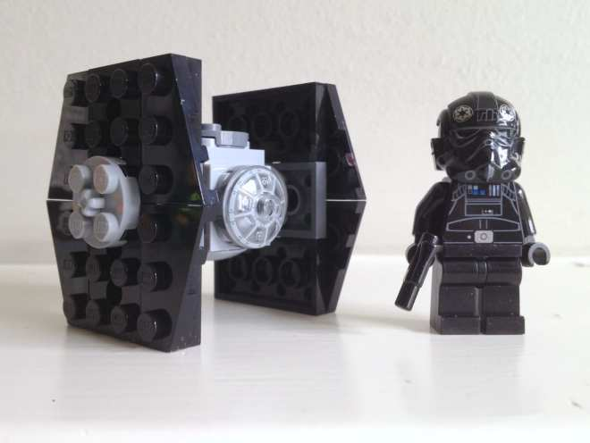 Tie Fighter and Tie Fighter Pilot minifig from LEGO Star Wars Imperial Assault Carrier 75106, LEGO 75106