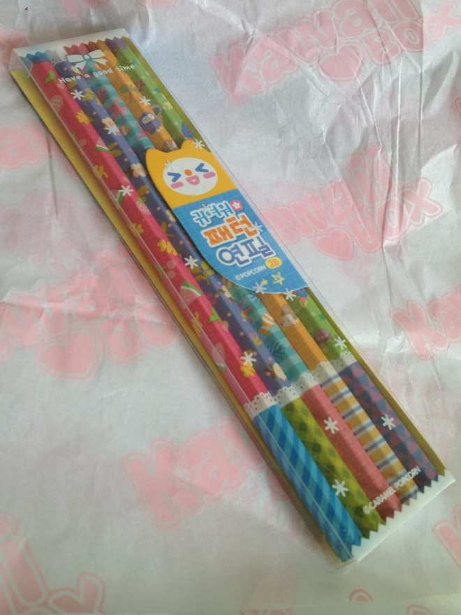 As described really - ordinary pencils with cute colourful patterns.