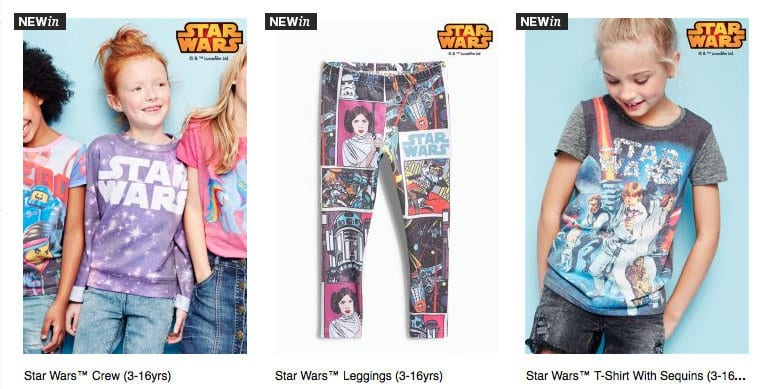 A New Hope? Retailers are now selling Star Wars Clothes… For Girls